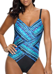 Blue Design One Piece Suit