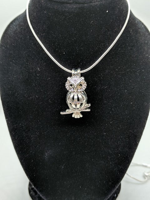 Owl on Branch Locket