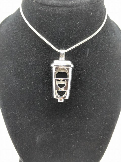 Sterling Silver Coffee Cup Locket