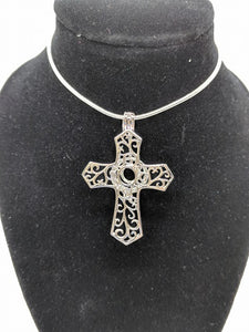 Sterling Silver Cross Locket