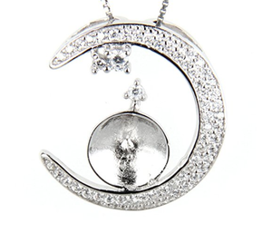 Moon Mounted Necklace