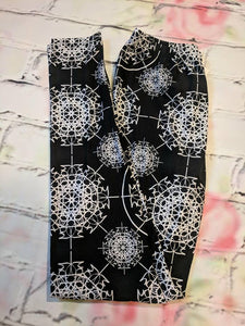 One Size Black and White Leggings
