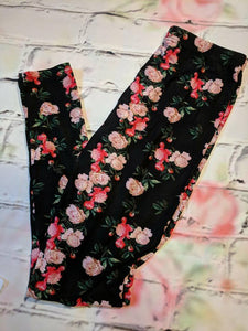 One Size Floral Leggings
