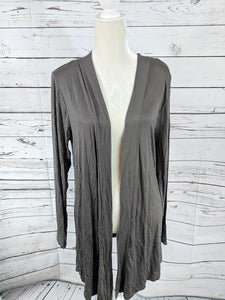 Light Weight Open Cardi Grey
