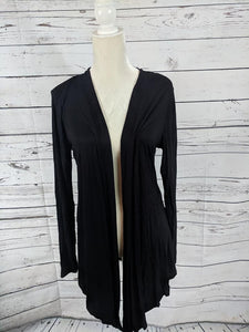 Light Weight Open Cardi Black