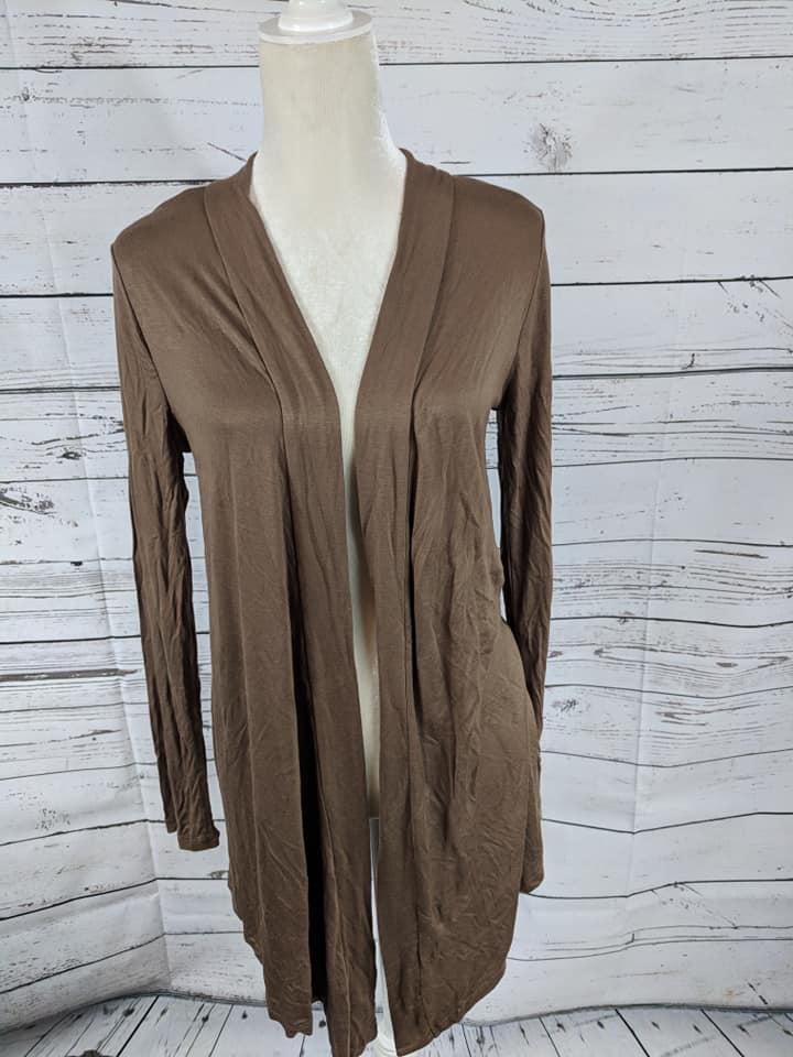 Light Weight Open Cardi Brown