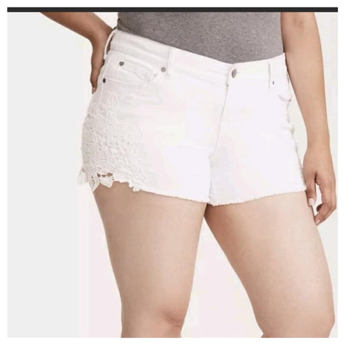 Torrid White Denim Shorts