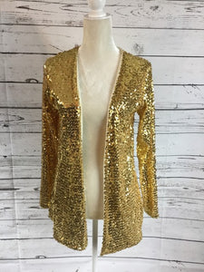 Open Gold Sequin Cardi