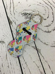 Lip Balm Holder Key Chain -Disney Princess