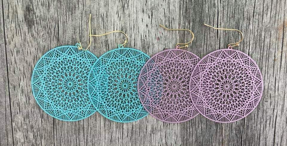 Round Cutout Earrings