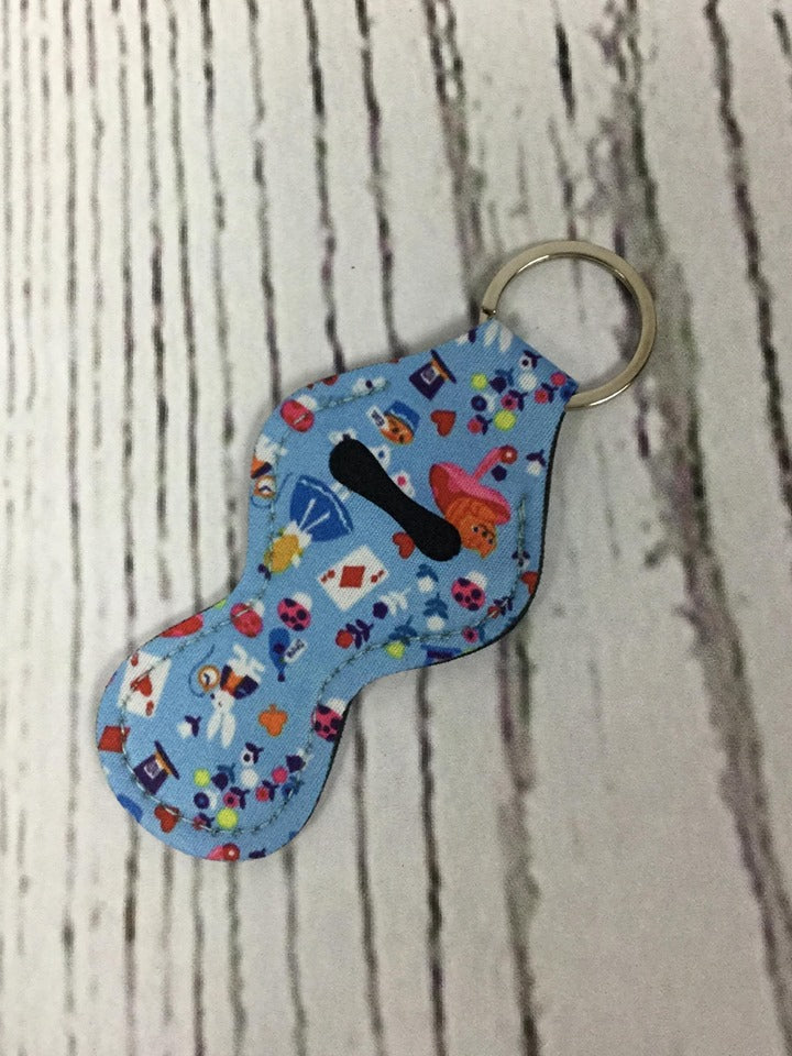 Lip Balm Holder Key Chain - Alice in Wonderland
