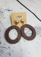Woven Textured Circle Earrings