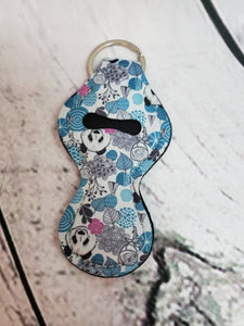 Lip Balm Holder Key Chain -  Pandas