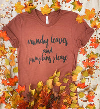 Crunchy Leaves and Pumpkins Please Tee
