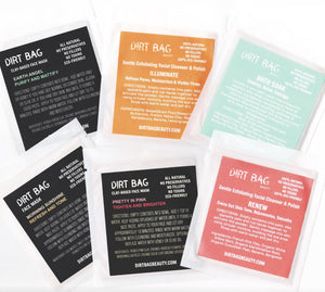 Dirt Bag® Beauty - Single Use Face Mask