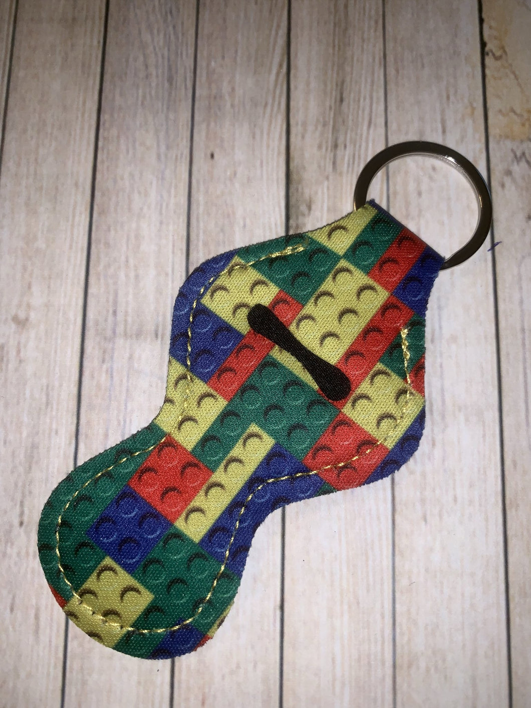 Lip Balm Holder Key Chain - Legos