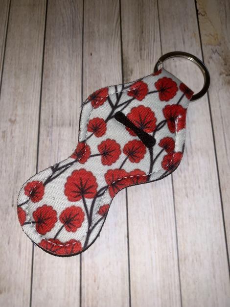 Lip Balm Holder Key Chain - Poppy