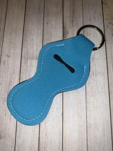 Lip Balm Holder Key Chain - Solid Teal