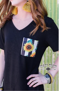 Sunny and Cher Pocket Tee with Knot