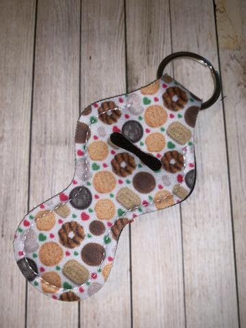 Lip Balm Holder Key Chain - Girl Scout Cookie