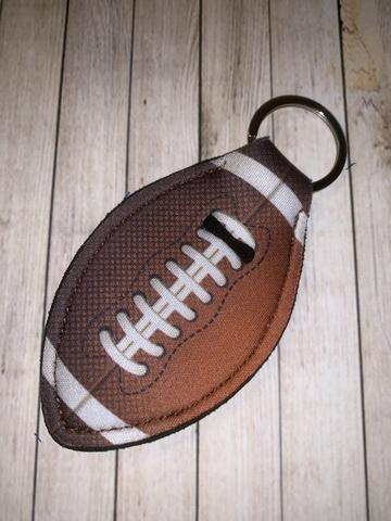 Lip Balm Holder Key Chain - Football Shape
