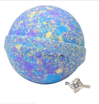 Galaxy Bath Bomb with Ring Inside (Open at home)
