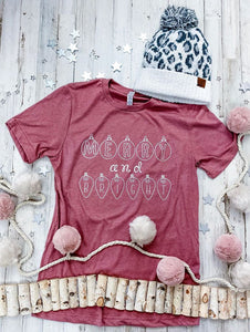 Merry and Bright Ornamental  Tee