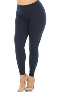 Solid Navy Leggings