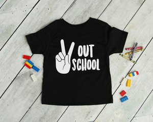 Kids Peace Out School Tee