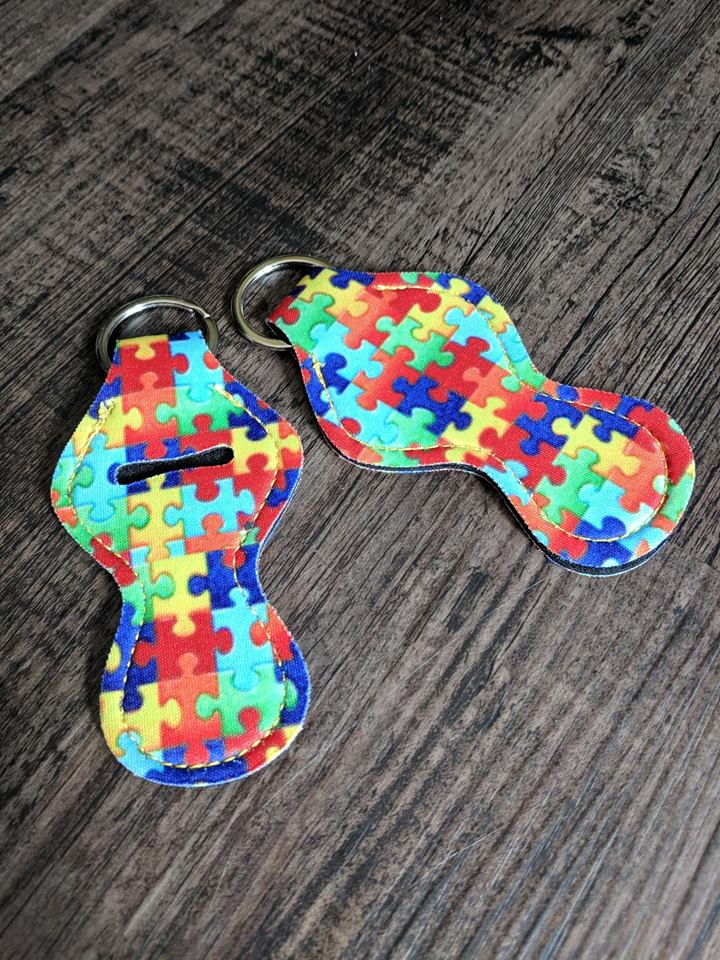 Lip Balm Holder Key Chain - Puzzle