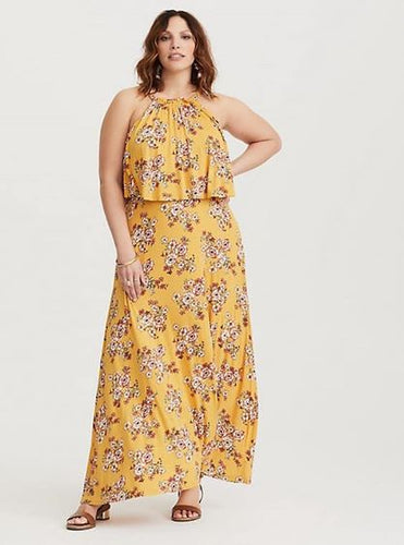 Torrid Yellow Floral Maxi