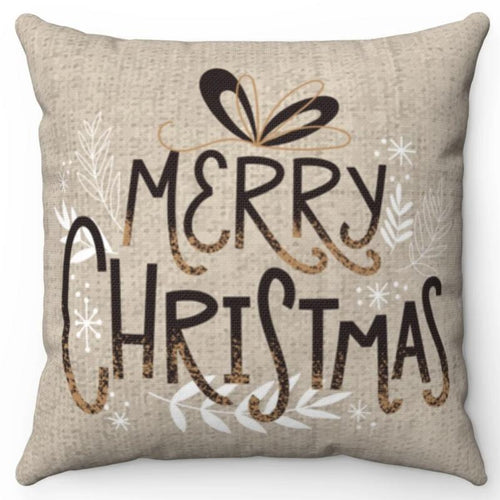 Merry Christmas On Burlap 16