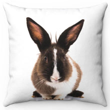 "Load image into Gallery viewer, Bunny Rabbit 16"" Or 18"" Square Throw Pillow"