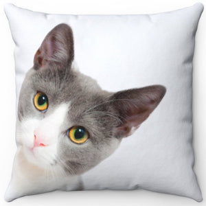 "Kermit The Peeking Cat 16"" Or 18"" Square Throw Pillow"