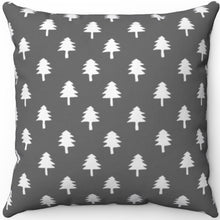 "Load image into Gallery viewer, Grey & White Minimalist Pattern # Seven 16"" 18"" Or 20"" Square Throw Pillow Cover"
