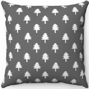 "Grey & White Minimalist Pattern # Seven 16"" 18"" Or 20"" Square Throw Pillow Cover"