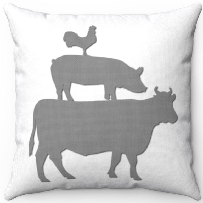 Farm Animal Stack Grey On White 18