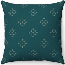 "Load image into Gallery viewer, Sherpa Blue Green Minimal Pattern 18"" x 18"" Square Throw Pillow"
