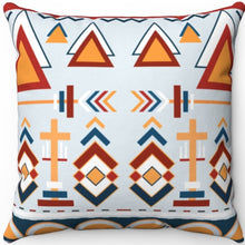 "Load image into Gallery viewer, Colorful Boho Pattern #Eight 16"" 18"" Or 20"" Square Throw Pillow Covers"