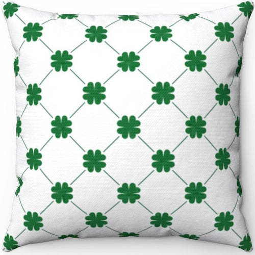 Shamrocks & Diamonds On White 16