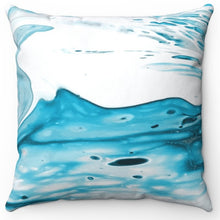 "Load image into Gallery viewer, Blue Psychedelic Printed Design 18"" Or 20"" Square Throw Pillow Cover"