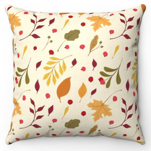 "Autumn Leaves Are Falling 20"" x 20"" Throw Pillow Cover"