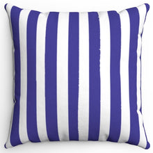 "Load image into Gallery viewer, Blue & White Texture Stripes 16"" Or 18"" Square Throw Pillow Cover"