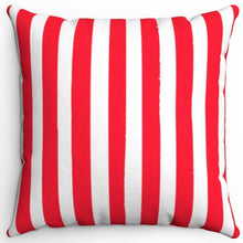 "Load image into Gallery viewer, Light Red Texture Stripes 16"" Or 18"" Square Throw Pillow Cover"