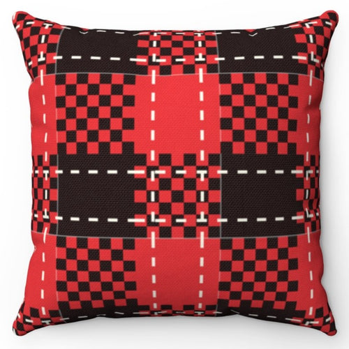 Black Red & White Buffalo Plaid 18