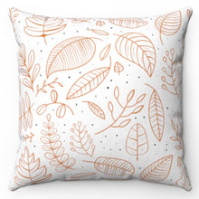 "Load image into Gallery viewer, Hand Sketched Fall Leaves 18"" x 18"" Throw Pillow"