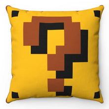 "Load image into Gallery viewer, Super Mario Question Block 18"" x 18"" Throw Pillow"