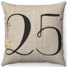 "Load image into Gallery viewer, December 25th 16"" 18"" Or 20"" Square Throw Pillow Cover"