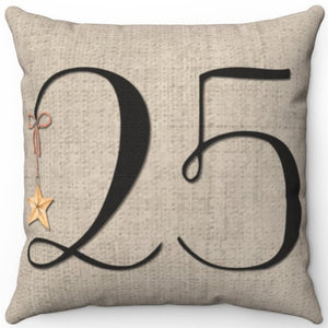 "December 25th 16"" 18"" Or 20"" Square Throw Pillow Cover"
