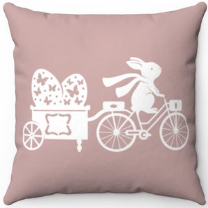 "Easter Egg Trailer 18"" x 18"" Square Throw Pillow"